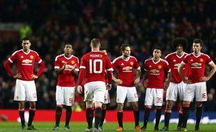 Les joueurs de Manchester United contre Middlesbrough le 28 octobre 2015.