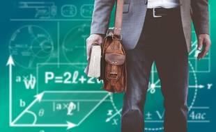 Illustration : Un enseignant de maths.