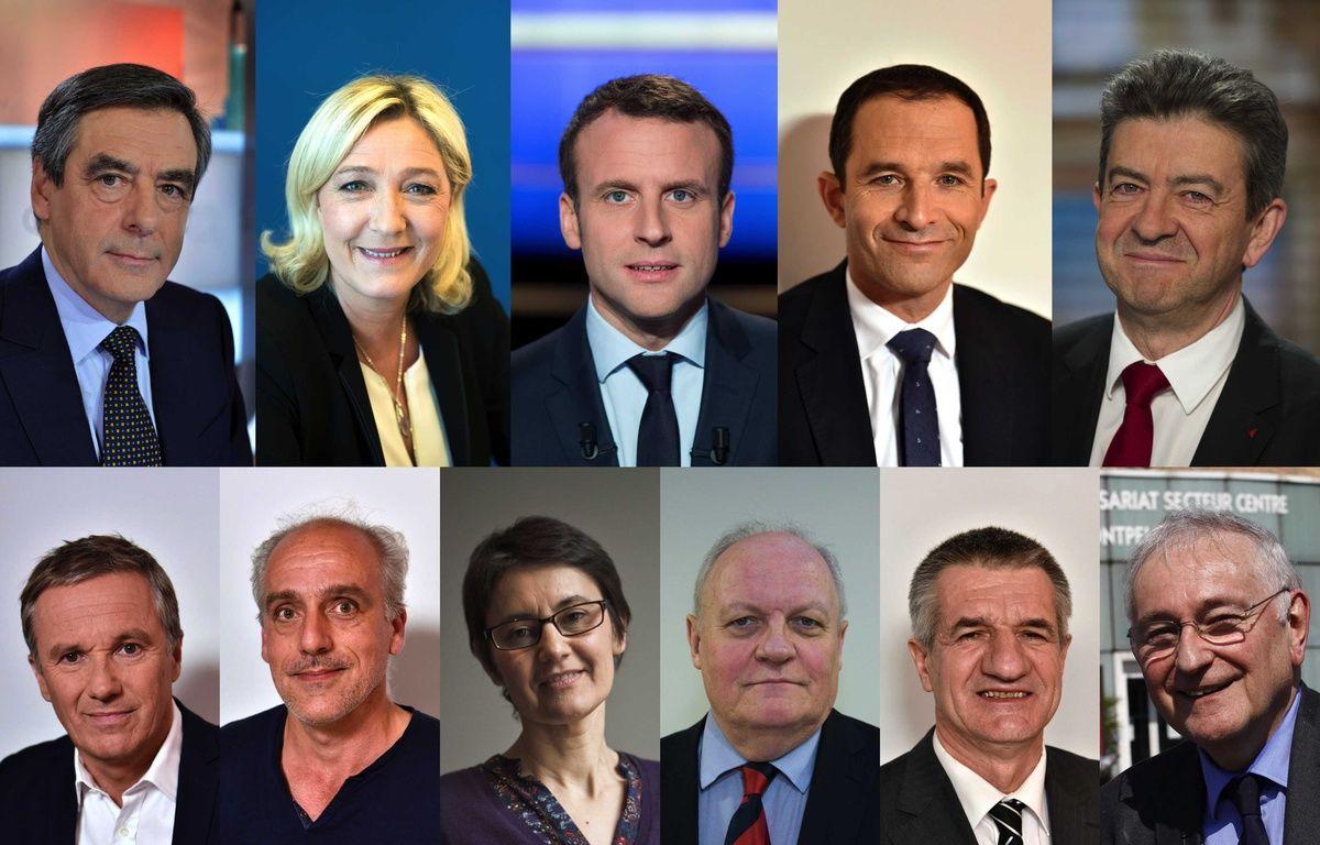 Les 11 candidats à l'élection présidentielle. – BO/CHAMUSSY/NICOLAS MESSYASZ/TARDIVON JEAN CHRISTOPHE/SIPA