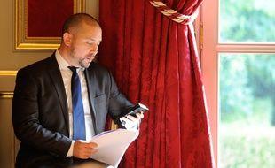 Christian Gravel à l'Elysée, le 27 août 2014.