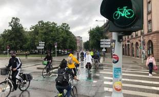 Feu vert pour les cyclistes à Strasbourg !