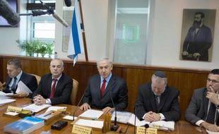 Réunion hebdomadaire du gouvernement israélien, le 8 juin 2014