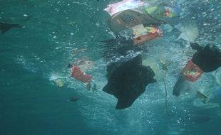 Les océans sont de plus en plus pollués par des plastiques.