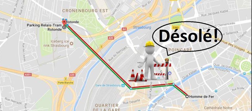 Grosse galère: Deux lignes de tram passant par la gare de Strasbourg interrompues tout l'été