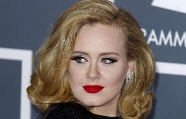La chanteuse Adele aux Grammy Awards, le 12 février 2012.