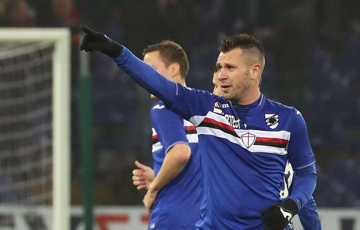Antonio Cassano sous le maillot de la Sampdoria le 10 janvier 2016.  – Carlo Baroncini/AP/SIPA