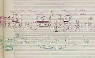 Partition de la main de Pierre Boulez
