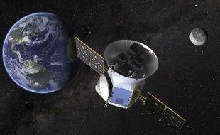 Cette image fournie par la Nasa montre une illustration du Transiting Exoplanet Survey Satellite (TESS),qui devrait être lancé le 16 avril 2018.