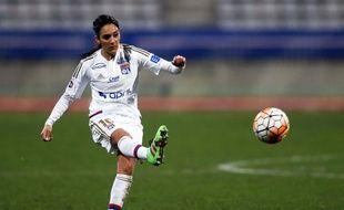 Louisa Necib s'est offert le plus beau but de la rencontre, ce dimanche, en demi-finale aller de Ligue des champions.