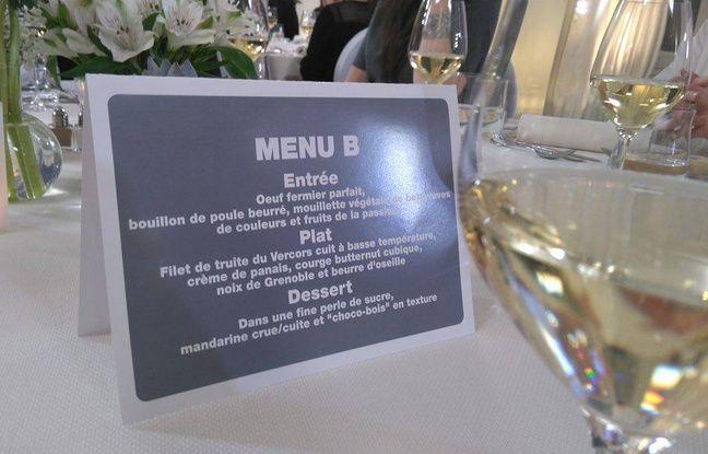 Le menu de Jérémie Izarn.