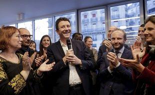 L'ex-porte-parole du gouvernementenjamin Griveaux a officialisé sa candidature à la mairie de Paris, le 28 mars 2019.