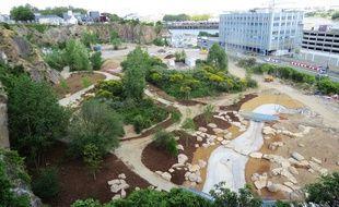 Du haut de la butte Sainte-Anne, on se rend compte que le Jardin extraordinaire  prend forme, à Nantes.