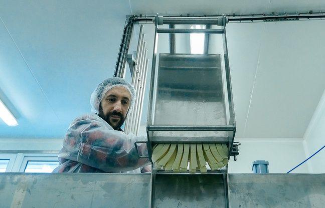 Les deux frères viennent de monter un atelier pour fabriquer leur propre fromage à poutine.