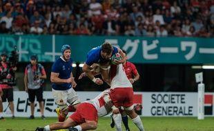 Le match entre la France et les Tonga lors de la Coupe du monde au Japon, le 6 octobre 2019.