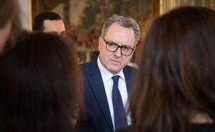 Richard Ferrand, le 22 février 2018 à l'Elysée.