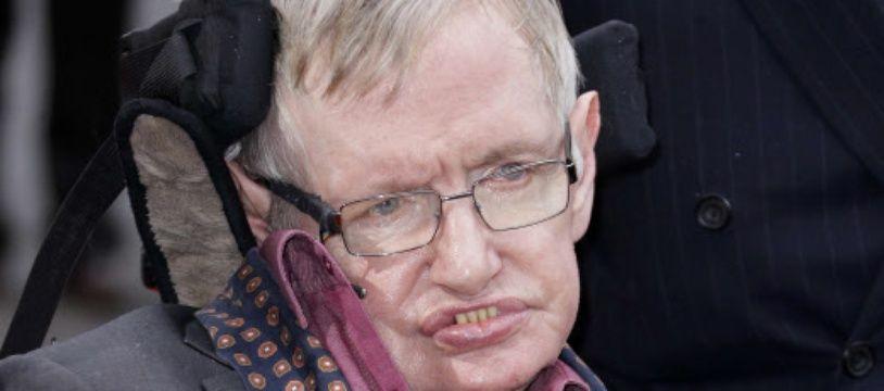 Stephen Hawking en mars 2018, à Londres.