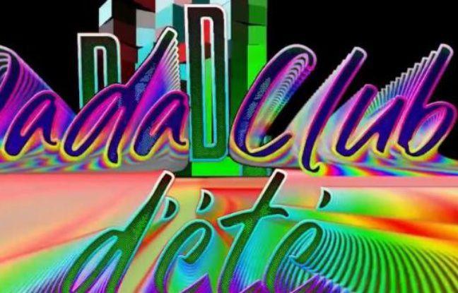 Visuel psychédélique pour le Dada Club d'été numéro 3
