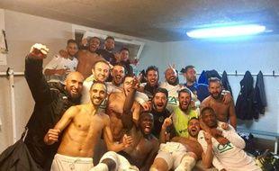 La joie des joueurs de Tournefeuille après leur succès sur Luzenac en Coupe de France, le 21 octobre 2017.
