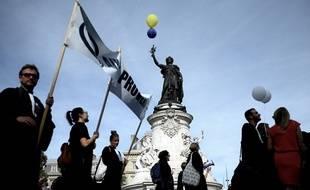 Manifestation d'avocats à Paris le 16 septembre 2019  contre la réforme des retraites.
