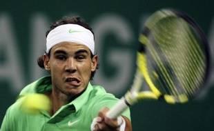 Le tennisman espagnol Rafael Nadal, lors de sa victoire face à Feliciano Lopez, en demi-finale du tournoi de Shanghai, le 16 octobre 2009.