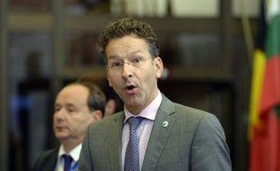 Jeroen Dijsselbloem, ministre des Finances néerlandais, le 13 juillet 2015 à Bruxelles