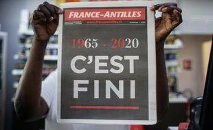 La Une du dernier numéro de « France-Antilles », paru le 1er février 2020.