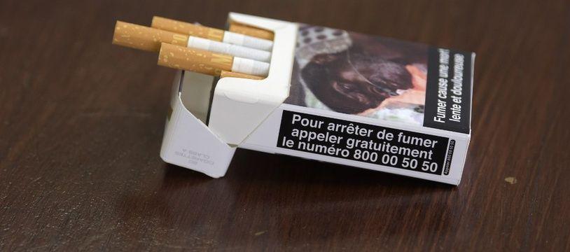 Image d'illustration d'un paquet de cigarettes.