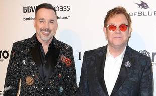 David Furnish et Elton John à Hollywood