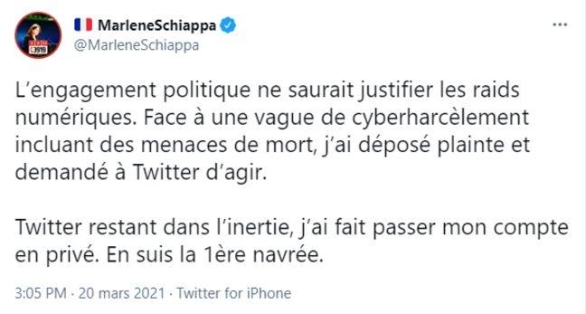 Marlène Schiappa a annoncé avoir porté plainte pour cyberharcèlement.