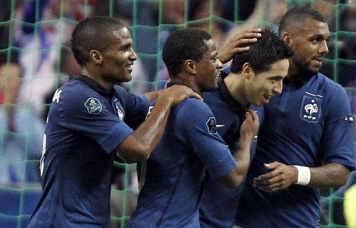 Quatre joueurs de l'équipe de France, le 7 octobre 2011 – G.FUENTES/REUTERS