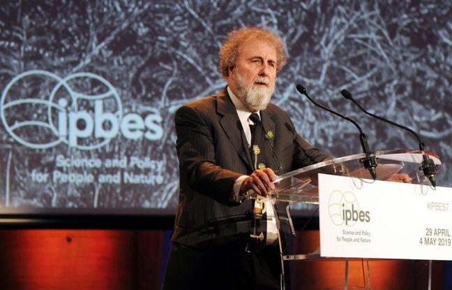 Sir Robert Watson, président de l'Ipbes, à l'Unesco ce lundi 29 avril.