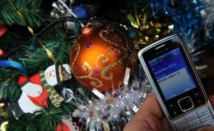 Un SMS pour souhaiter la bonne année 2012.