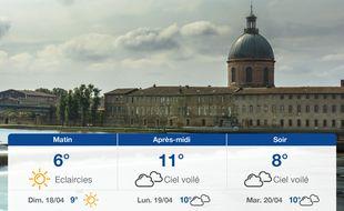 Météo Toulouse: Prévisions du samedi 17 avril 2021