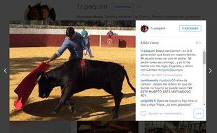 Capture d'écran de la photo postée sur instagram par Francisco Rivera.