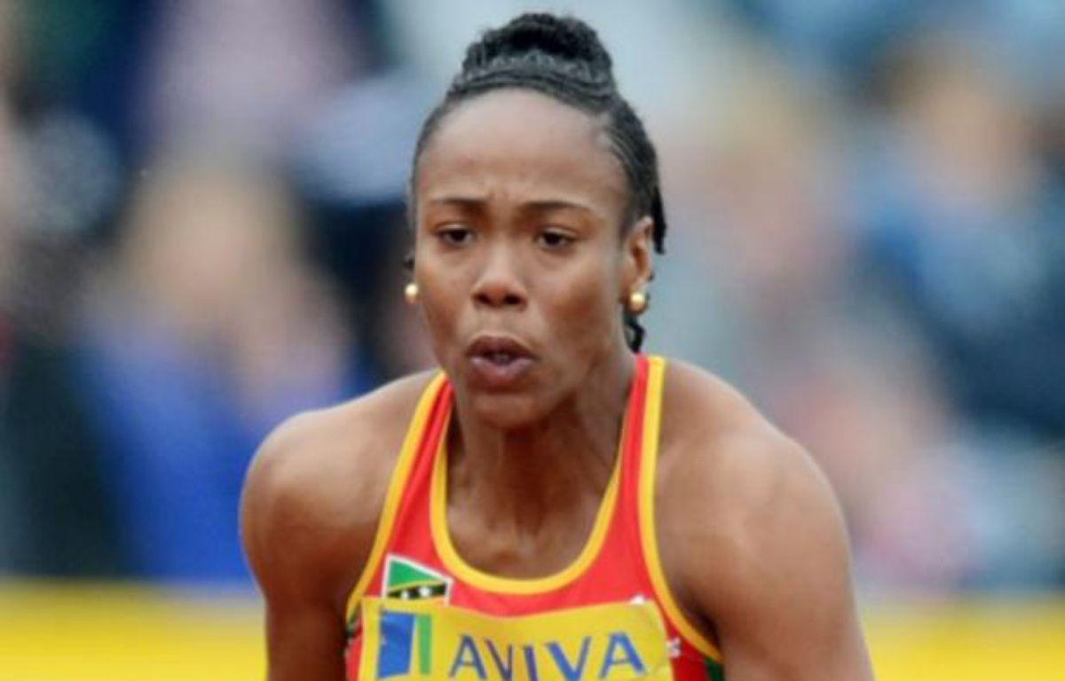 La sprinteuse Tameka Williams, contrôlée positive, le 14 juillet 2012 au meeting de Crystal Palace. – A.Dennis / AFP
