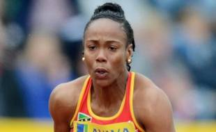 La sprinteuse Tameka Williams, contrôlée positive, le 14 juillet 2012 au meeting de Crystal Palace.