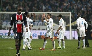 Le Parisien Sissoko se replace après un but de Marseille, le 27 novembre 2011, au Stade Vélodrome.