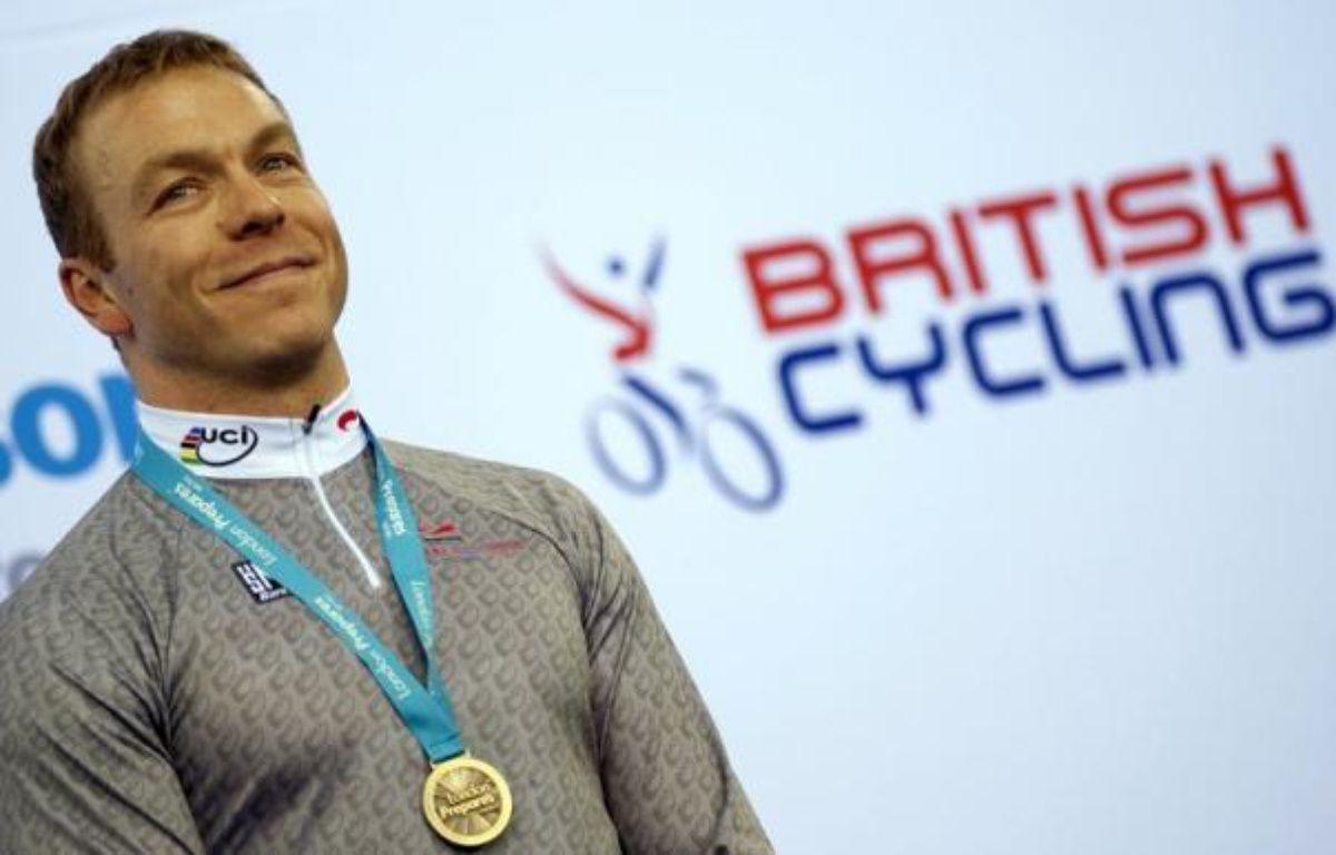 Le pistard britannique Chris Hoy a été choisi comme porte-drapeau de la délégation de la Grande-Bretagne pour la cérémonie d'ouverture des jeux Olympiques de Londres vendredi, a-t-on appris lundi. – Adrian Dennis afp.com
