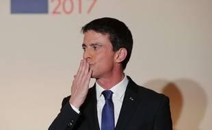 Manuel Valls après sa défaite lors des primaires de la gauche, le 29 janvier 2017.