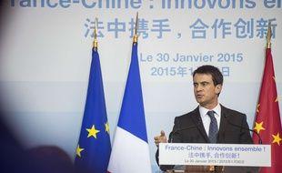 Le Premier Ministre Manuel Valls à Pékin le 30 janvier 2015.
