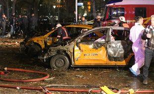 Forte explosion, probablement un attentat, dans le centre Ankara, en Turquie, dimanche 13 mars 2016.