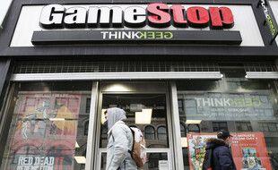 Un magasin GameStop (vente de jeux vidéo) à New York, le 27 janvier 2021.