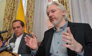 Julian Assange à l'ambassade d'Equateur de Londres, le 18 juin 2014