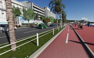 La chaussée et le trottoir seront séparés par un câble.