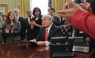 Donald Trump le 30 janvier à la Maison Blanche.