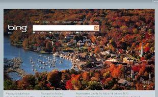 Capture d'écran du moteur de recherche Bing