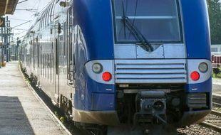 Un TER dans le nord de la France le 22 mai 2014