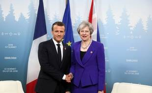 Emmanuel Macron et Theresa May, le 8 juin 2018.