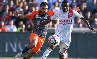 Mustapha Diallo lors de Nîmes-Montpellier en Ligue 1 le 30 septembre 2018.