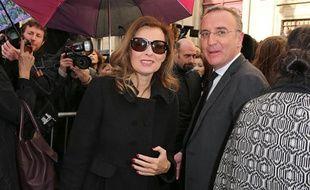 Valérie Trierweiler lors du défilé Dior àParis, le 28 févier 2014.